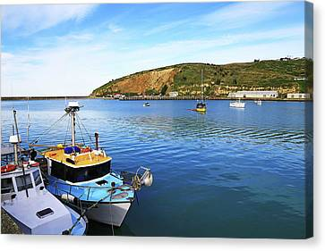 Canvas Print featuring the photograph Boats At Friendly Bay by Nareeta Martin