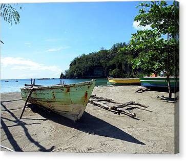 Canvas Print featuring the photograph Boats At La Soufriere, St. Lucia by Kurt Van Wagner