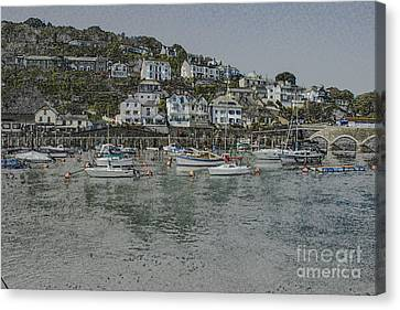 Canvas Print featuring the photograph Boats At Looe by Brian Roscorla