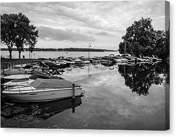 Boats At Wayzata Canvas Print by Susan Stone