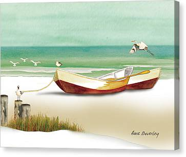 Boats For Rent Canvas Print by Anne Beverley-Stamps