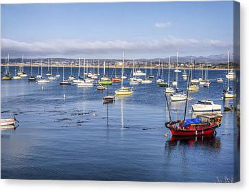 Boats In Monterey Bay Canvas Print