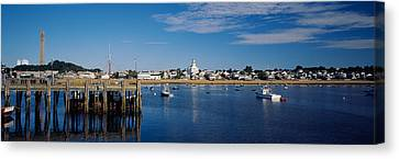 Boats In The Sea, Provincetown, Cape Canvas Print
