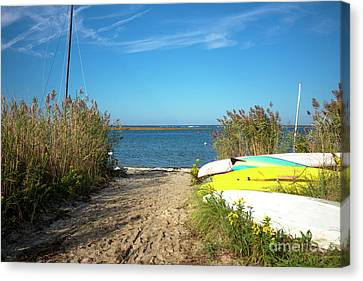 Canvas Print featuring the photograph Boats On Long Beach Island by John Rizzuto