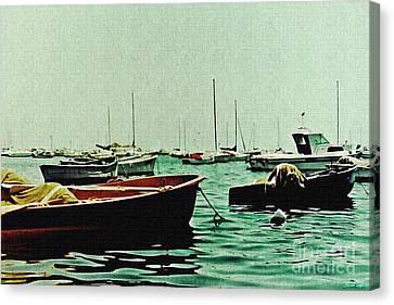 Boats On Mar Menor 2 Canvas Print