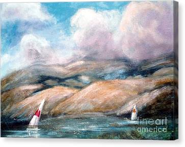 Sailing Toward Home Canvas Print by Marcy  Orendorff
