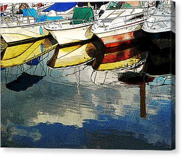 Boats Reflected - Poster     1st Place Award At Uconn Art Show  Canvas Print
