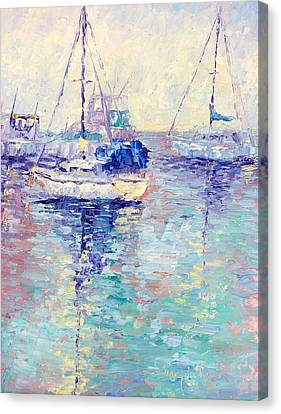 Boats Canvas Print by Terry  Chacon