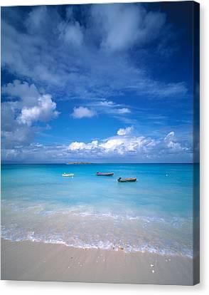 Boats Tropical Caribbean Sea Antilles Canvas Print