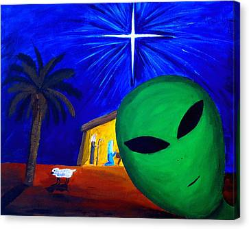 Bob At The Manger Canvas Print