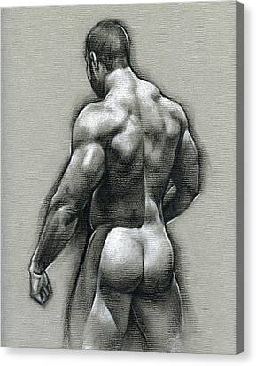 Naked Canvas Print - Bob by Chris Lopez