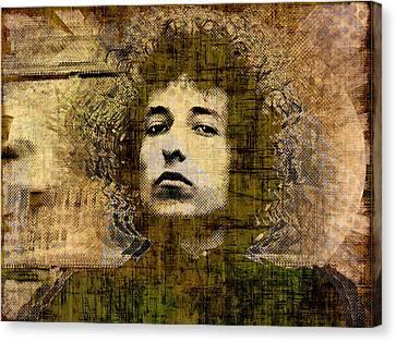 Bob Dylan 1 Canvas Print by Tony Rubino