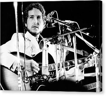 Canvas Print featuring the photograph Bob Dylan 1969 Isle Of Wight by Chris Walter
