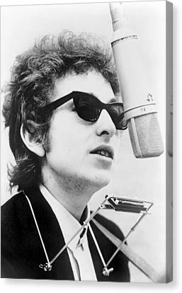 Bob Dylan B. 1941 With Harmonica Canvas Print by Everett