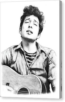 Unrest Canvas Print - Bob Dylan Drawing Art Poster by Kim Wang
