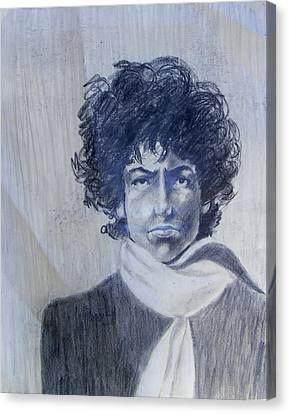 Bob Dylan In The Rock Years Canvas Print by Judith Redman