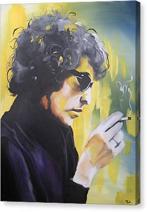 Bob Dylan Canvas Print by Matt Burke