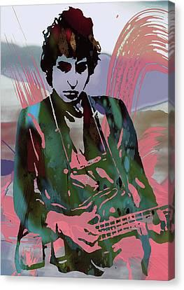 Popular Canvas Print - Bob Dylan Modern Etching Art Poster by Kim Wang