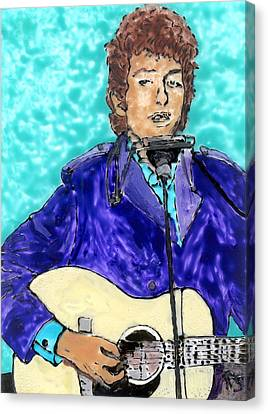 Bob Dylan Number 3 Canvas Print by Phil Strang