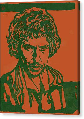Bob Dylan Pop Stylised Art Sketch Poster Canvas Print by Kim Wang