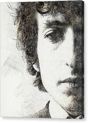 Bob Dylan Portrait 02 Canvas Print by Pablo Romero