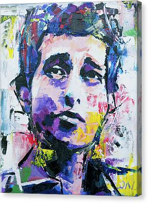 Bob Dylan Portrait Canvas Print by Richard Day