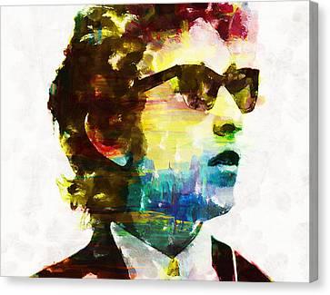 Bob Dylan Rainbow Wayfarers Canvas Print by John Farr