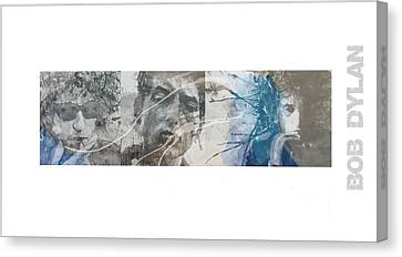 Songwriter Canvas Print - Bob Dylan Triptych by Paul Lovering