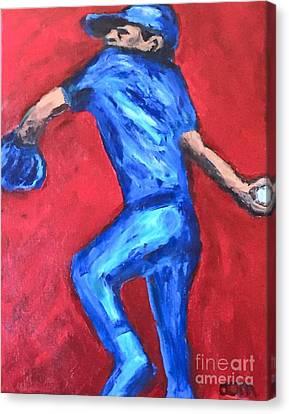 Bob Feller -- Legend Canvas Print by Owen McCafferty