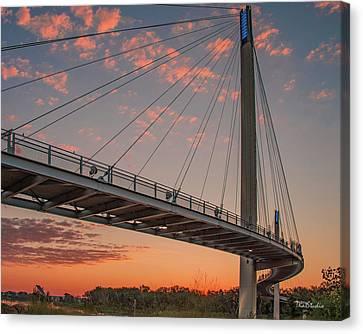 Bob Kerry Bridge At Sunrise-4 Canvas Print