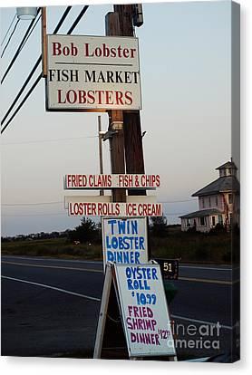Bob Lobster Fish Market Canvas Print