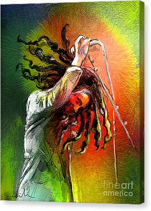 Bob Marley 07 Canvas Print by Miki De Goodaboom