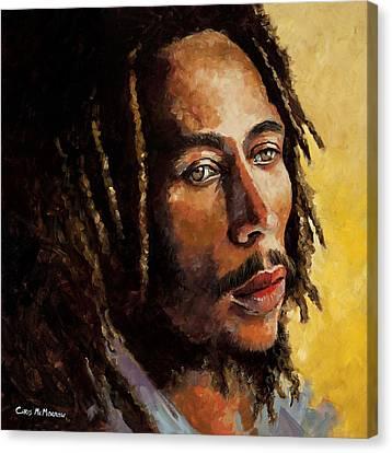 Bob Marley Canvas Print by Chris Mc Morrow