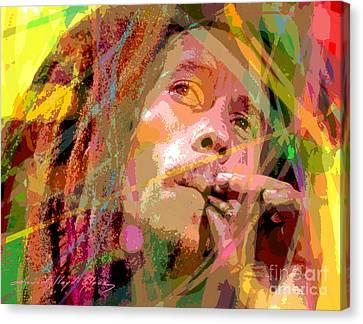 Bob Marley Canvas Print by David Lloyd Glover