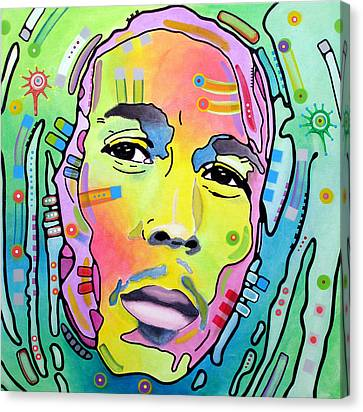 Canvas Print featuring the painting Bob Marley I by Dean Russo