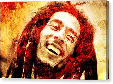 Bob Marley Canvas Print by J- J- Espinoza