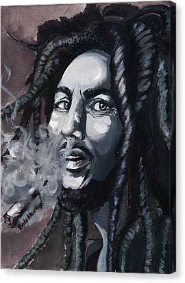 Bob Marley Portrait Canvas Print by Alban Dizdari