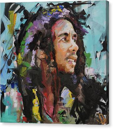 Bob Marley Portrait Canvas Print by Richard Day