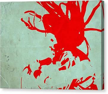 Bob Marley Red Canvas Print by Naxart Studio