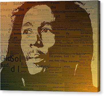 Bob Marley Redemption Song Canvas Print by Dan Sproul
