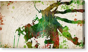 Bob Marley Singing Canvas Print by Mihaela Pater