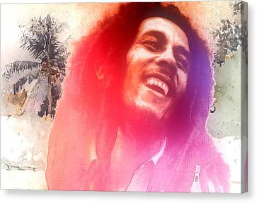 Bob Marley Canvas Print by Steve K