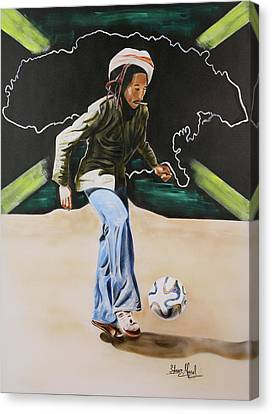 Bob Marley With Brazuca Canvas Print