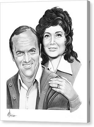 Bob Newhart - Susan Pleshette Canvas Print