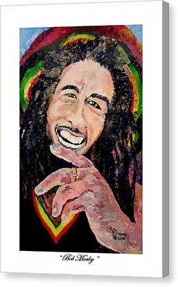 Bob Reggae Marley Canvas Print