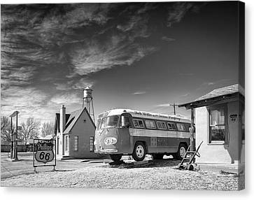 Canvas Print featuring the photograph Bob Wills And The Texas Playboys Tour Bus Turkey Tx by Mary Lee Dereske