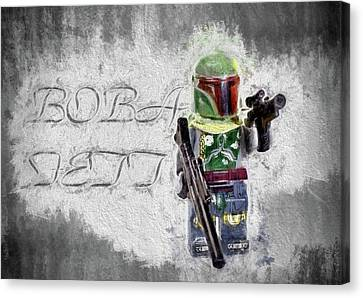 Canvas Print featuring the digital art Boba Fett by JC Findley