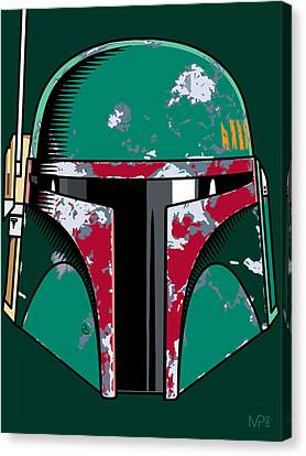 Boba Fett Canvas Print - Boba Fett by IKONOGRAPHI Art and Design