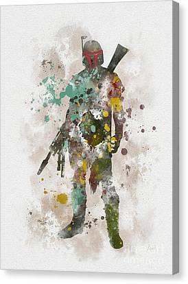 Empire Canvas Print - Boba Fett by Rebecca Jenkins