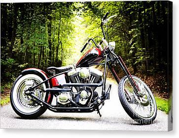 Bobber Harley Davidson Custom Motorcycle Canvas Print